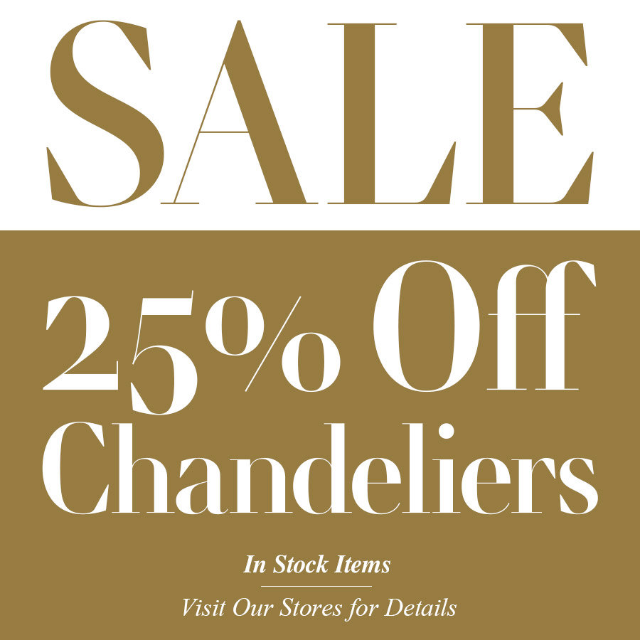25% Off All Chandeliers - Imagine More Stores